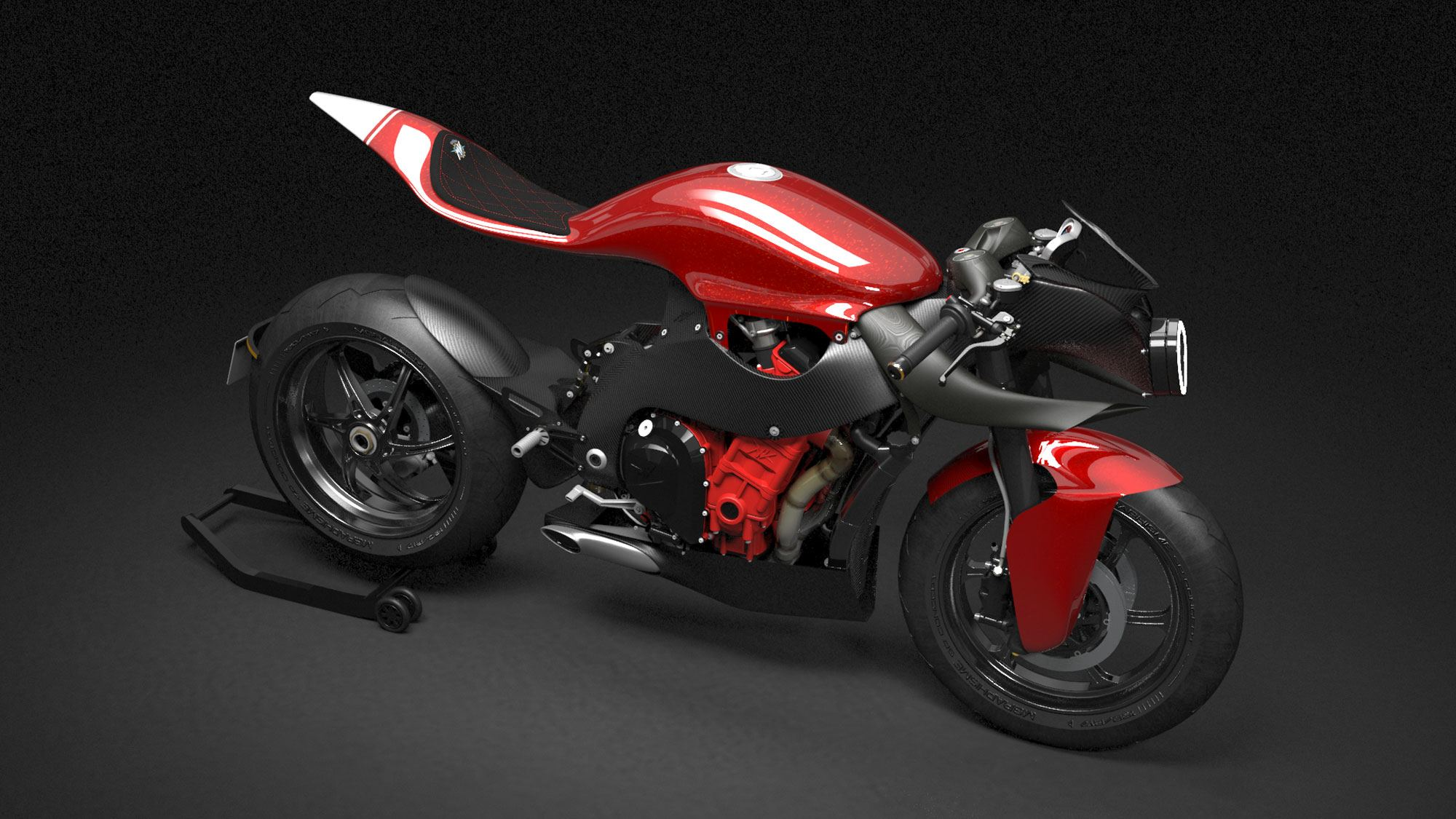 MV agusta F4  with seat frame by Mgraphisme
